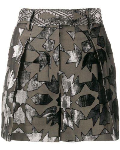 Черные шорты с карманами на пуговицах Roberto Cavalli