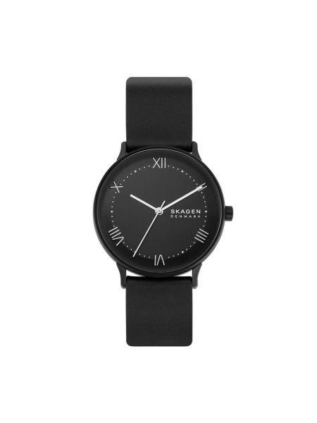 Czarny zegarek z siateczką Skagen