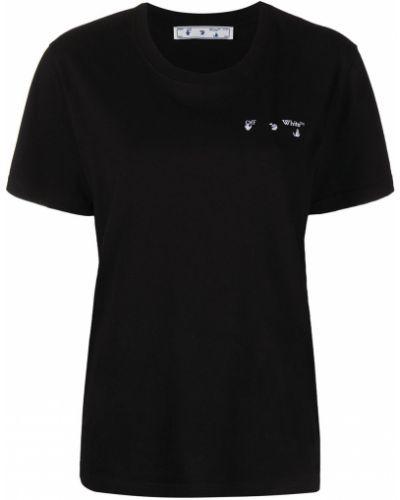 Прямая с рукавами белая футболка Off-white