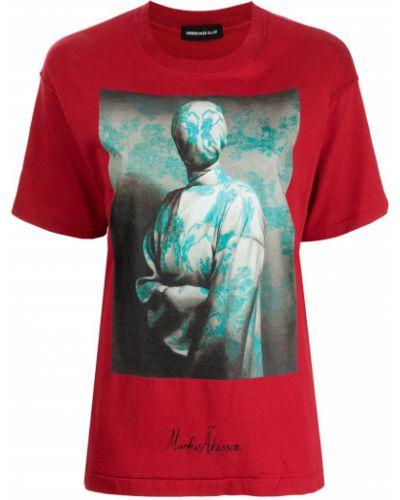 Красная прямая футболка Undercover