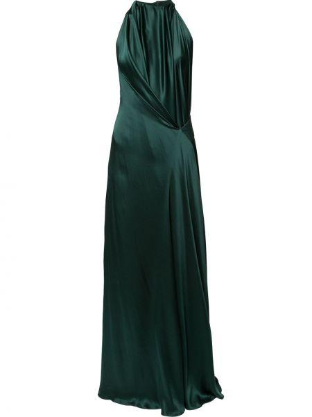 Драповое приталенное платье с драпировкой с вырезом Bianca Spender