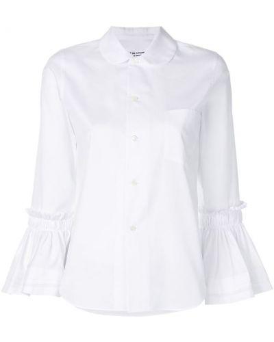 Рубашка с длинным рукавом с оборками хлопковая Comme Des Garçons Comme Des Garçons