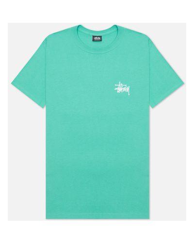 Хлопковая базовая футболка Stussy
