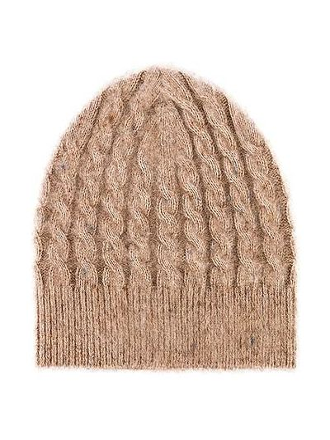 Шерстяная шапка бини - бежевая Acne Studios
