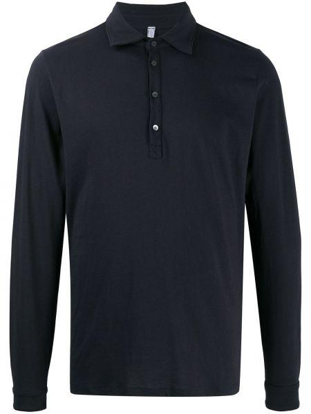Синяя прямая рубашка с воротником на пуговицах Cenere Gb