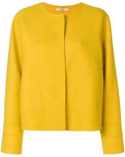 Пиджак с накладными карманами прямой льняной Odeeh
