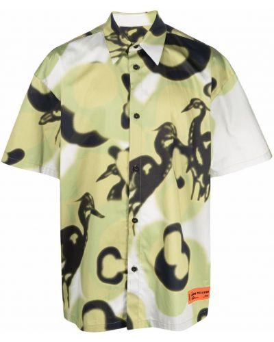 Koszula bawełniana - zielona Heron Preston