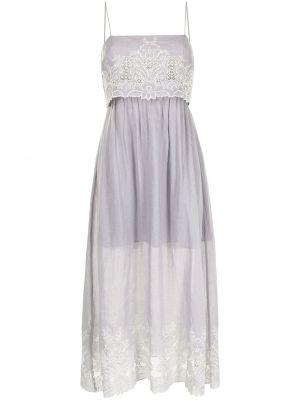 Белое расклешенное платье Alice Mccall