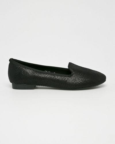 Черные балетки текстильные Answear