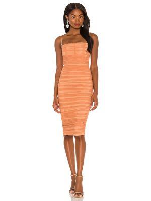 Оранжевое платье на молнии Nookie