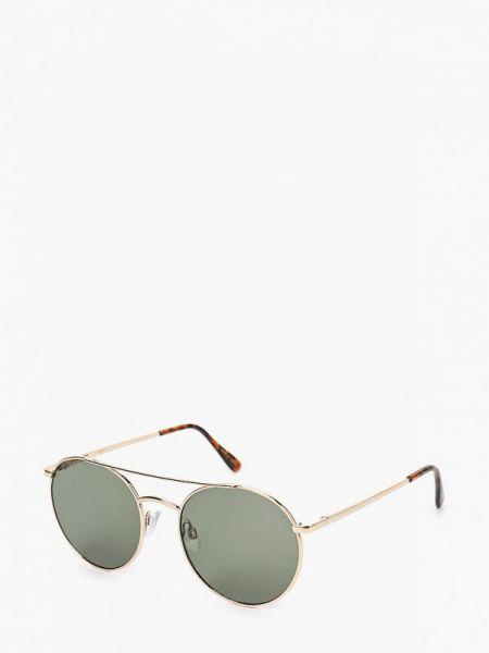 Солнцезащитные очки круглые золотой Mango Man