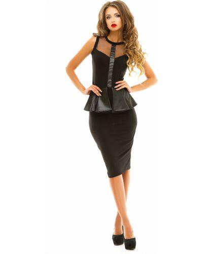 Облегающее платье с баской сетчатое Lacywear