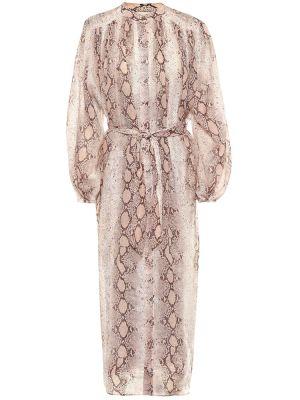 Коричневое легкое платье Zimmermann