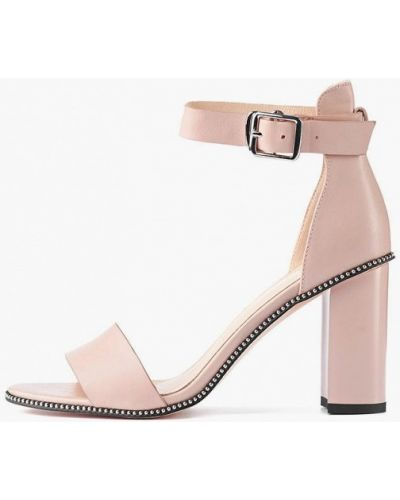 Кожаные босоножки - розовые Stefano Lompas