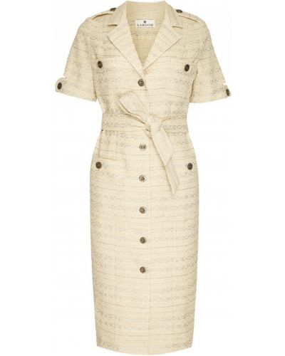 Платье сафари - бежевое Laroom