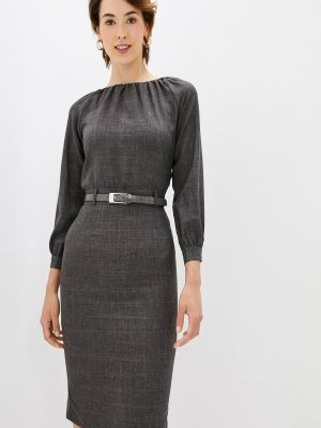 Черное повседневное платье Maurini