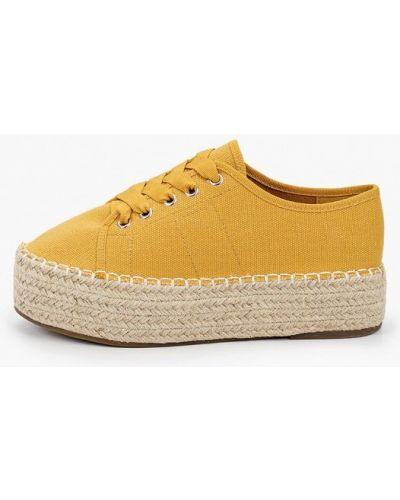Текстильные желтые эспадрильи Vera Blum