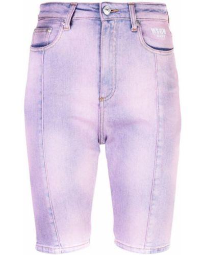 Джинсовые шорты розовый фиолетовый Msgm