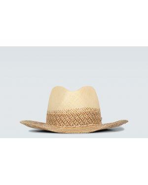 Шляпа с широкими полями бежевый соломенная Borsalino