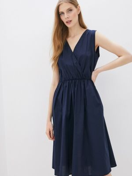 Платье прямое синее Perfect J