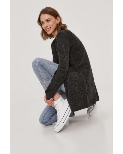 Czarny długi sweter dzianinowy z długimi rękawami Vero Moda