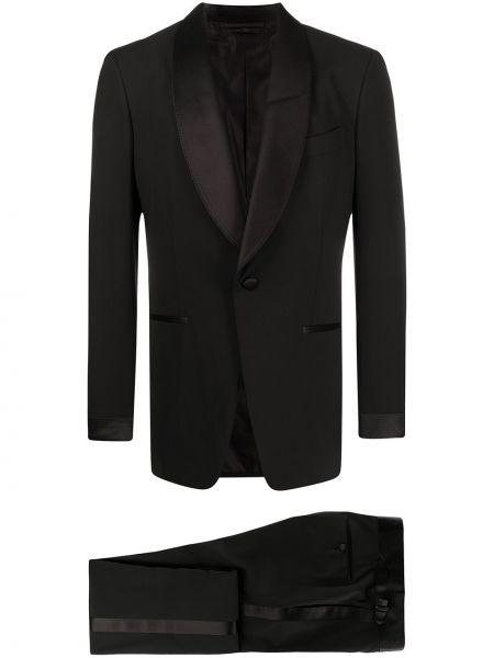 Шерстяной черный костюмный костюм на пуговицах Tom Ford