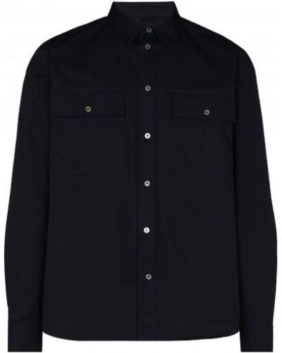 Хлопковая рубашка - синяя Wood Wood