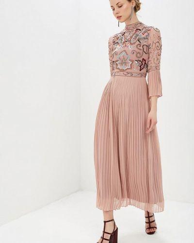 Вечернее платье розовый весеннее Frock And Frill