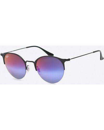 Солнцезащитные очки круглые металлические Ray-ban
