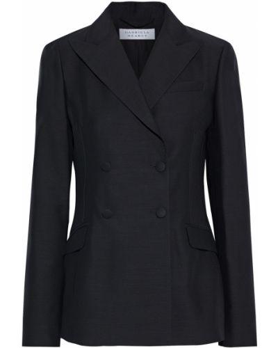 Черный пиджак двубортный с карманами Gabriela Hearst