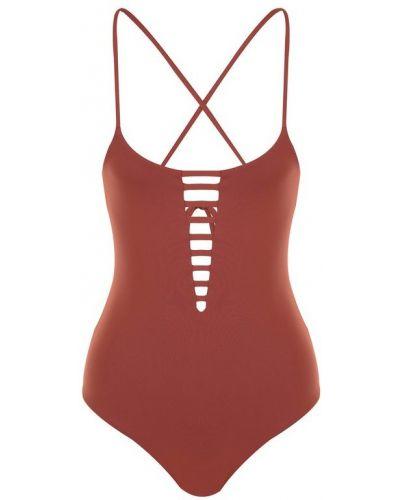 Слитный купальник со шнуровкой пландж с открытой спиной Melissa Odabash