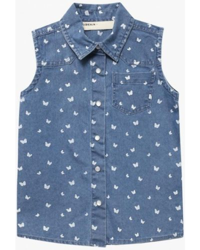 Джинсовая рубашка синий Modis