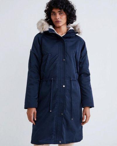Зимняя куртка весенняя синий Mango