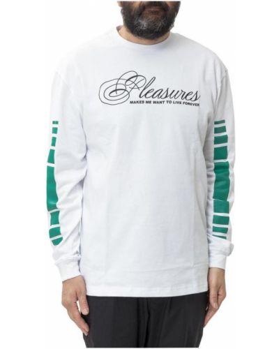 Biały t-shirt Pleasures