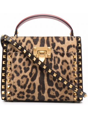 Кожаная сумка - коричневая Valentino Garavani