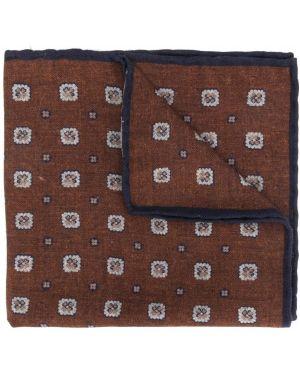 Платок с цветочным принтом коричневый Eleventy