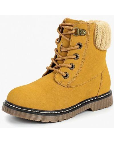 Желтые ботинки из нубука Keddo