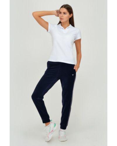Спортивные велюровые брюки с карманами на шнурках Viserdi