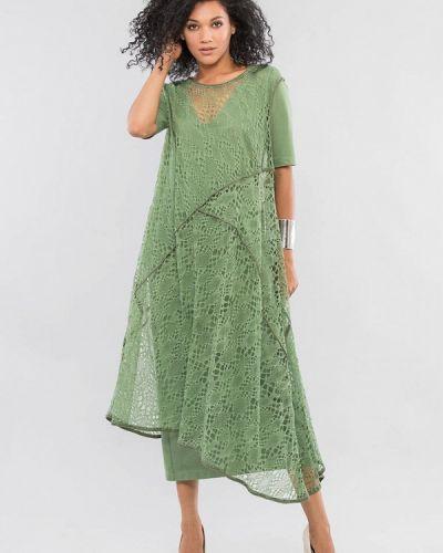 Зеленое повседневное повседневное платье Maxa