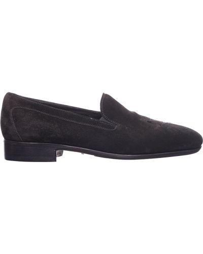 Черные туфли замшевые Pakerson