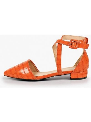 Оранжевые кожаные туфли La Bottine Souriante