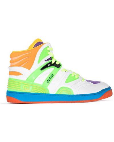 Sneakersy wysokie - zielone Gucci