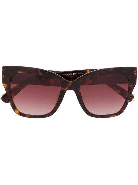 Okulary przeciwsłoneczne dla wzroku skórzany szkło Longchamp