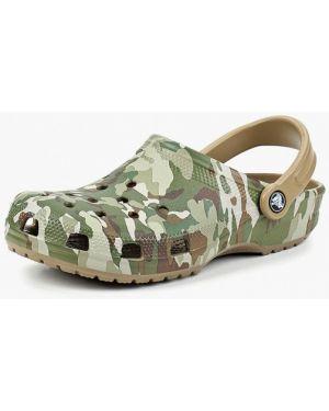 Сабо зеленый хаки Crocs