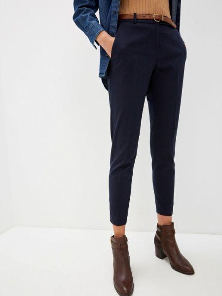 Синие классические брюки с карманами Hugo