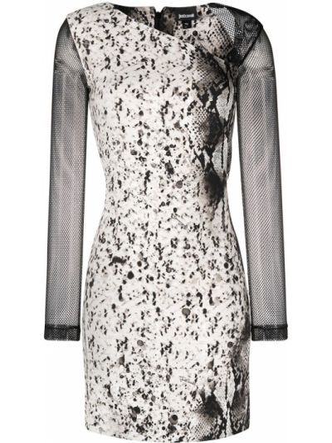 С рукавами облегающее платье макси из вискозы Just Cavalli