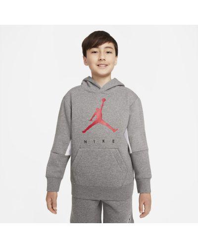 Szara bluza z kapturem Jordan