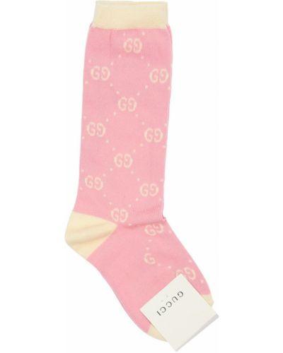 Bawełna bawełna różowy skarpetki z logo Gucci