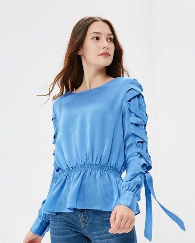 Голубая блузка с длинным рукавом Lost Ink.