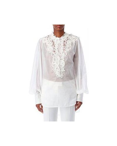 Хлопковая белая блузка Ermanno Scervino